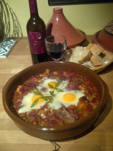 Huevos a la Flamenca – Flamenco Eggs recipes guest posts  My name is Roz but lots call me Rosie.  Welcome to Rosies Home Kitchen.  I moved from the UK to France in 2005, gave up my business and with my husband, Paul, and two sons converted a small cottage in rural Brittany to our home   Half Acre Farm.  It was here after years of ready meals and take aways in the UK I realised that I could cook. Paul also learned he could grow vegetables and plant fruit trees; we also keep our own poultry for meat and eggs. Shortly after finishing the work on our house we was featured in a magazine called Breton and since then Ive been featured in a few magazines for my food.  My two sons now have their own families but live near by and Im now the proud grandmother of two little boys. Both of my daughter in laws are both great cooks.  My cooking is home cooking, but often with a French twist, my videos are not there to impress but inspire, So many people say that they cant cook, but we all can, you just got to give it a go.