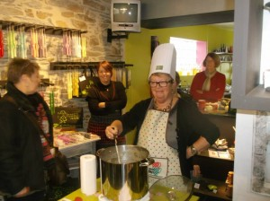 La Gacilly Soup Fete... blog posts  My name is Roz but lots call me Rosie.  Welcome to Rosies Home Kitchen.  I moved from the UK to France in 2005, gave up my business and with my husband, Paul, and two sons converted a small cottage in rural Brittany to our home   Half Acre Farm.  It was here after years of ready meals and take aways in the UK I realised that I could cook. Paul also learned he could grow vegetables and plant fruit trees; we also keep our own poultry for meat and eggs. Shortly after finishing the work on our house we was featured in a magazine called Breton and since then Ive been featured in a few magazines for my food.  My two sons now have their own families but live near by and Im now the proud grandmother of two little boys. Both of my daughter in laws are both great cooks.  My cooking is home cooking, but often with a French twist, my videos are not there to impress but inspire, So many people say that they cant cook, but we all can, you just got to give it a go.