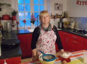 New Videos coming soon blog posts  My name is Roz but lots call me Rosie.  Welcome to Rosies Home Kitchen.  I moved from the UK to France in 2005, gave up my business and with my husband, Paul, and two sons converted a small cottage in rural Brittany to our home   Half Acre Farm.  It was here after years of ready meals and take aways in the UK I realised that I could cook. Paul also learned he could grow vegetables and plant fruit trees; we also keep our own poultry for meat and eggs. Shortly after finishing the work on our house we was featured in a magazine called Breton and since then Ive been featured in a few magazines for my food.  My two sons now have their own families but live near by and Im now the proud grandmother of two little boys. Both of my daughter in laws are both great cooks.  My cooking is home cooking, but often with a French twist, my videos are not there to impress but inspire, So many people say that they cant cook, but we all can, you just got to give it a go.