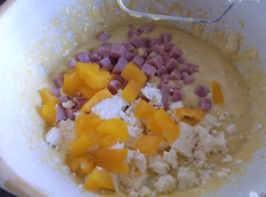 Ham, Feta and yellow pepper savoury bread rosies home kitchen in brittany france recipes  My name is Roz but lots call me Rosie.  Welcome to Rosies Home Kitchen.  I moved from the UK to France in 2005, gave up my business and with my husband, Paul, and two sons converted a small cottage in rural Brittany to our home   Half Acre Farm.  It was here after years of ready meals and take aways in the UK I realised that I could cook. Paul also learned he could grow vegetables and plant fruit trees; we also keep our own poultry for meat and eggs. Shortly after finishing the work on our house we was featured in a magazine called Breton and since then Ive been featured in a few magazines for my food.  My two sons now have their own families but live near by and Im now the proud grandmother of two little boys. Both of my daughter in laws are both great cooks.  My cooking is home cooking, but often with a French twist, my videos are not there to impress but inspire, So many people say that they cant cook, but we all can, you just got to give it a go.