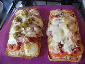 Ciabatta Pizza rosies home kitchen in brittany france recipes  My name is Roz but lots call me Rosie.  Welcome to Rosies Home Kitchen.  I moved from the UK to France in 2005, gave up my business and with my husband, Paul, and two sons converted a small cottage in rural Brittany to our home   Half Acre Farm.  It was here after years of ready meals and take aways in the UK I realised that I could cook. Paul also learned he could grow vegetables and plant fruit trees; we also keep our own poultry for meat and eggs. Shortly after finishing the work on our house we was featured in a magazine called Breton and since then Ive been featured in a few magazines for my food.  My two sons now have their own families but live near by and Im now the proud grandmother of two little boys. Both of my daughter in laws are both great cooks.  My cooking is home cooking, but often with a French twist, my videos are not there to impress but inspire, So many people say that they cant cook, but we all can, you just got to give it a go.