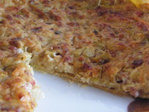 Leek and Bacon Tart recipes  My name is Roz but lots call me Rosie.  Welcome to Rosies Home Kitchen.  I moved from the UK to France in 2005, gave up my business and with my husband, Paul, and two sons converted a small cottage in rural Brittany to our home   Half Acre Farm.  It was here after years of ready meals and take aways in the UK I realised that I could cook. Paul also learned he could grow vegetables and plant fruit trees; we also keep our own poultry for meat and eggs. Shortly after finishing the work on our house we was featured in a magazine called Breton and since then Ive been featured in a few magazines for my food.  My two sons now have their own families but live near by and Im now the proud grandmother of two little boys. Both of my daughter in laws are both great cooks.  My cooking is home cooking, but often with a French twist, my videos are not there to impress but inspire, So many people say that they cant cook, but we all can, you just got to give it a go.